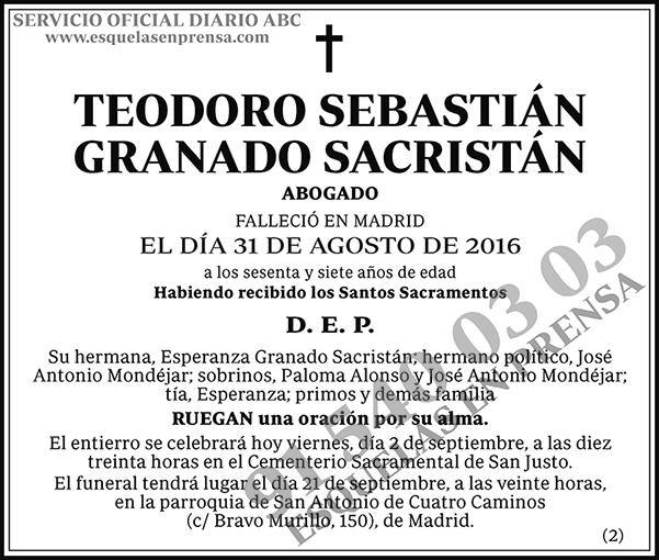 Teodoro Sebastián Granado Sacristán